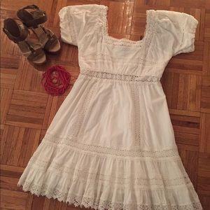 Victoria Secret Cotton & Lace Dress, White